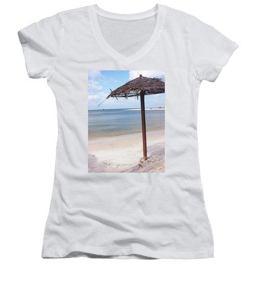 Port Gentil Gabon Africa Women's V-Neck T-Shirt