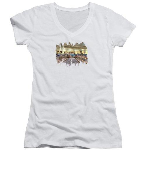 Port Of Newport - Dock 5 Women's V-Neck T-Shirt