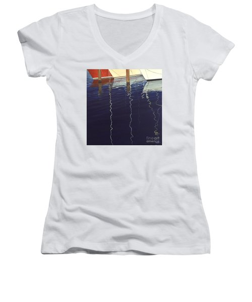 Port Of Saint Petersburg Women's V-Neck T-Shirt