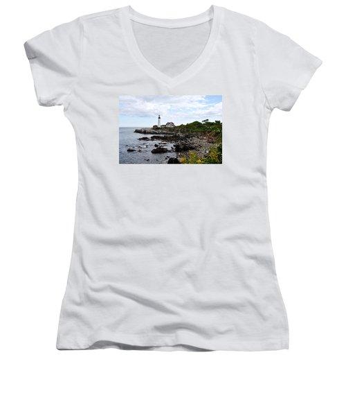 Portland Headlight II Women's V-Neck T-Shirt