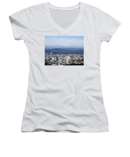 Portland In Perspective Women's V-Neck