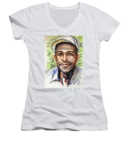 Portrait Of A Man Women's V-Neck T-Shirt