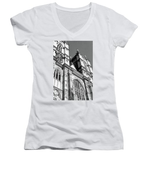 Portrait Of Westminster Abbey Women's V-Neck (Athletic Fit)