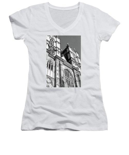 Portrait Of Westminster Abbey Women's V-Neck T-Shirt