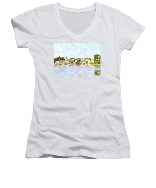 Portsmouth Nh South End Psewc Women's V-Neck (Athletic Fit)