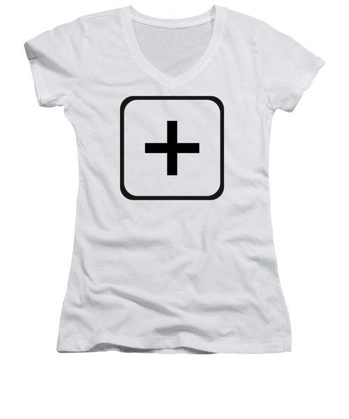Positive Art Women's V-Neck T-Shirt (Junior Cut) by Robert G Kernodle