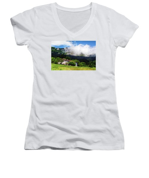 Postcard From Basque Country Women's V-Neck
