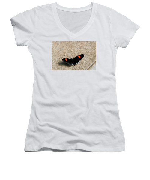 Postman Butterfly Women's V-Neck (Athletic Fit)