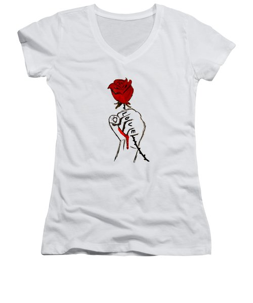 Power Of Love Women's V-Neck (Athletic Fit)