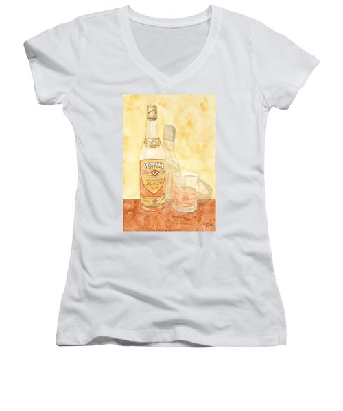Powers Irish Whiskey Women's V-Neck (Athletic Fit)