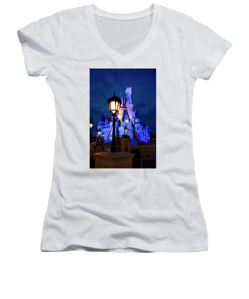 Women's V-Neck T-Shirt (Junior Cut) featuring the photograph Pre Hw by Greg Fortier