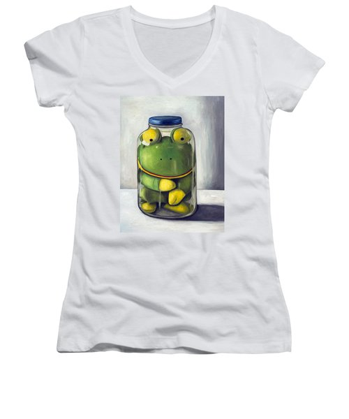 Preserving Childhood Upclose Women's V-Neck T-Shirt