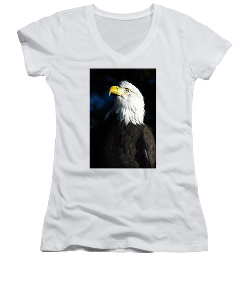Women's V-Neck T-Shirt (Junior Cut) featuring the photograph Pride And Power by Kristal Kraft