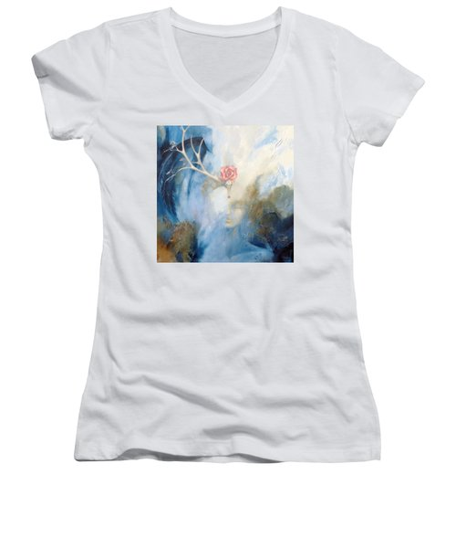 Priestess Women's V-Neck T-Shirt (Junior Cut) by Dina Dargo