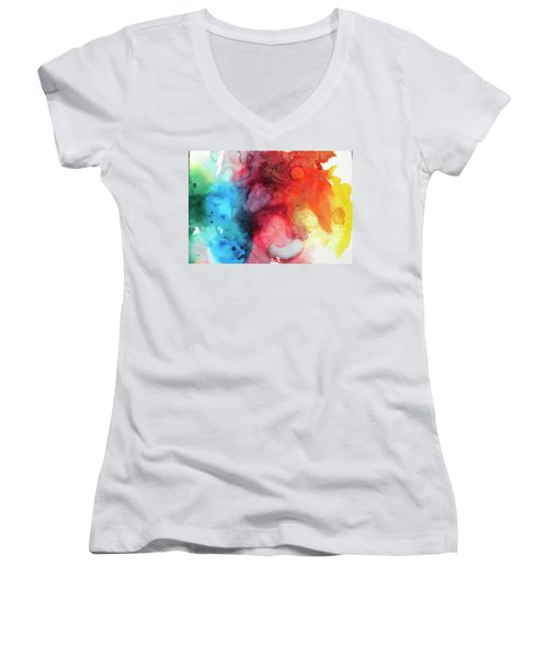 Primary Colors Women's V-Neck (Athletic Fit)