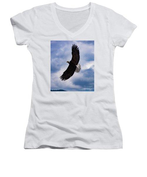 Prince Rupert Soaring Eagle Women's V-Neck T-Shirt