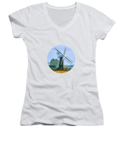 Priory Windmill Women's V-Neck
