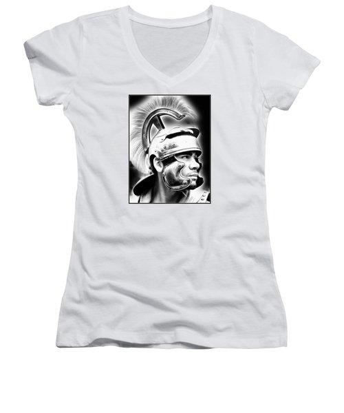 Profile Of A Trojan Hero Women's V-Neck T-Shirt