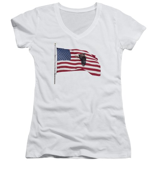 Proud To Be An American Women's V-Neck