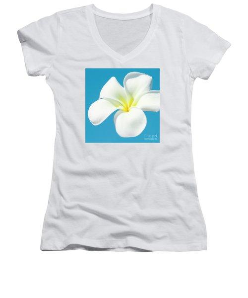 Pua Melia Pakahikahi Women's V-Neck T-Shirt (Junior Cut) by Sharon Mau