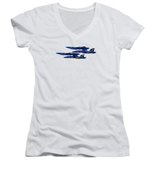 Public Relations Women's V-Neck T-Shirt (Junior Cut) by Greg Fortier
