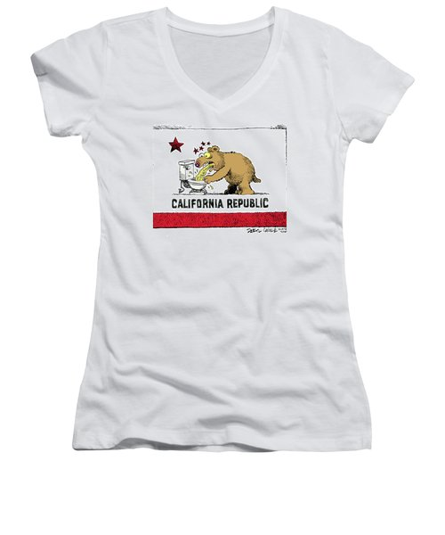 Puke Politics Women's V-Neck