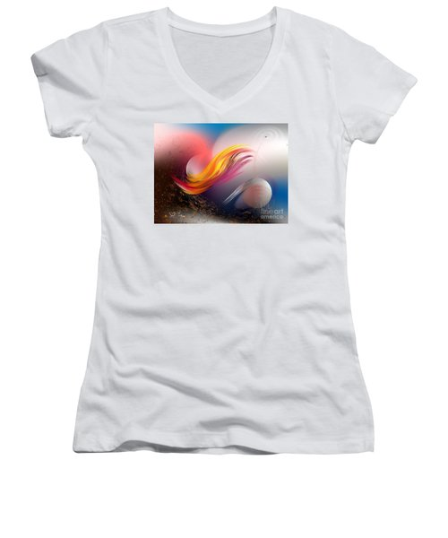 Pulsar Women's V-Neck T-Shirt (Junior Cut) by Leo Symon