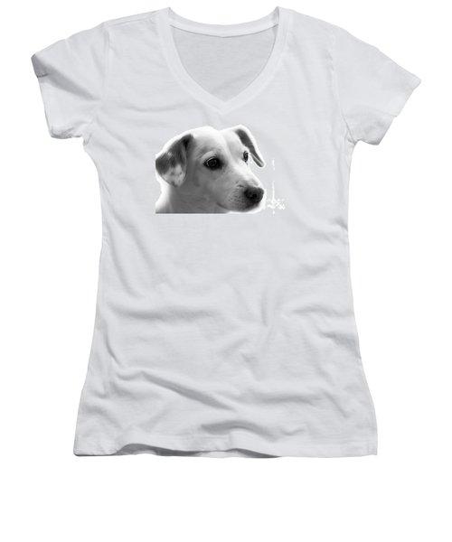 Puppy - Monochrome 4 Women's V-Neck