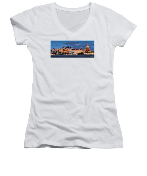 Women's V-Neck (Athletic Fit) featuring the photograph Pure And Simple Pano 48x18.5 by Dan McGeorge