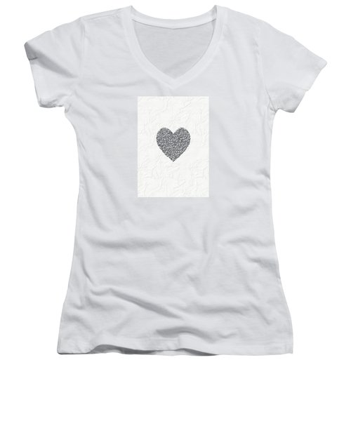Pure Love Women's V-Neck T-Shirt (Junior Cut) by Linda Prewer