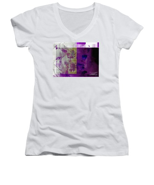 Purple Women's V-Neck T-Shirt