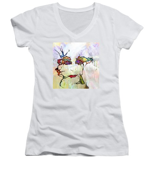 Purple Eyed Nymph Women's V-Neck (Athletic Fit)