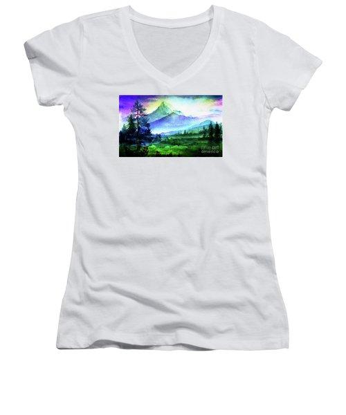 Purple Mountains Majesty Women's V-Neck