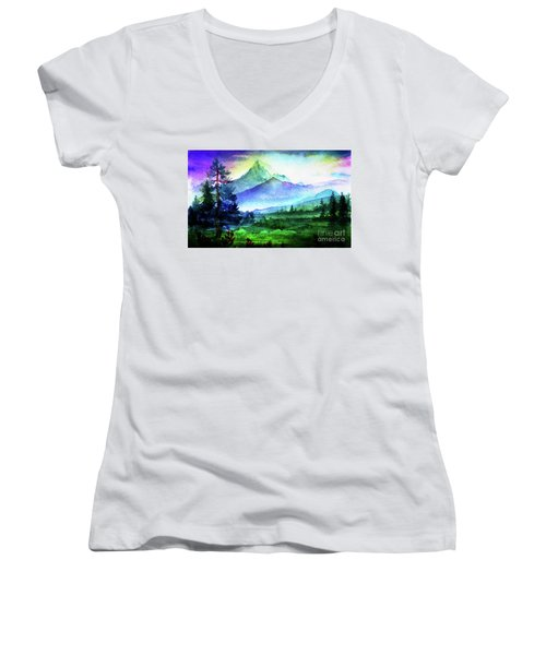 Purple Mountains Majesty Women's V-Neck
