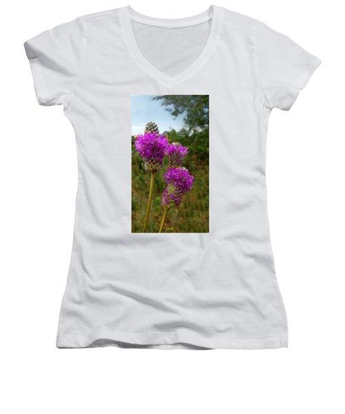 Purple Prairie Clover Women's V-Neck