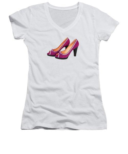 Purple Shoes Women's V-Neck (Athletic Fit)