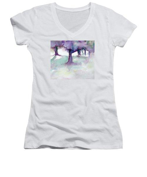 Purplescape II Women's V-Neck T-Shirt