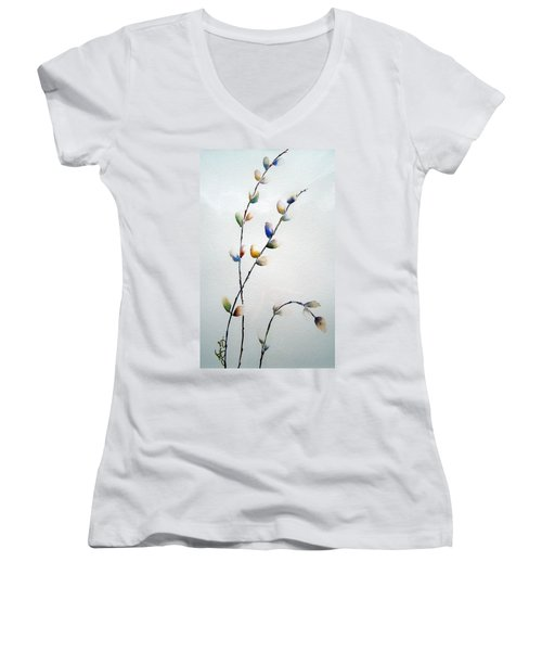 Pussy Willows Women's V-Neck