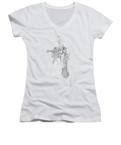 Queen Of The Afternoon Women's V-Neck