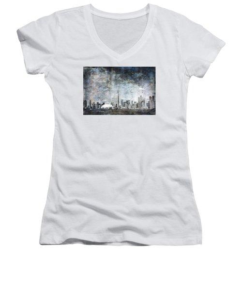 Quiet Sky Women's V-Neck T-Shirt