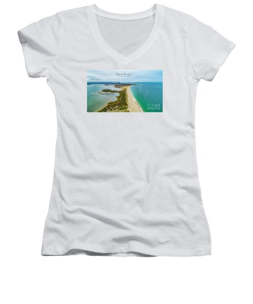 Quonochontaug Beach Women's V-Neck