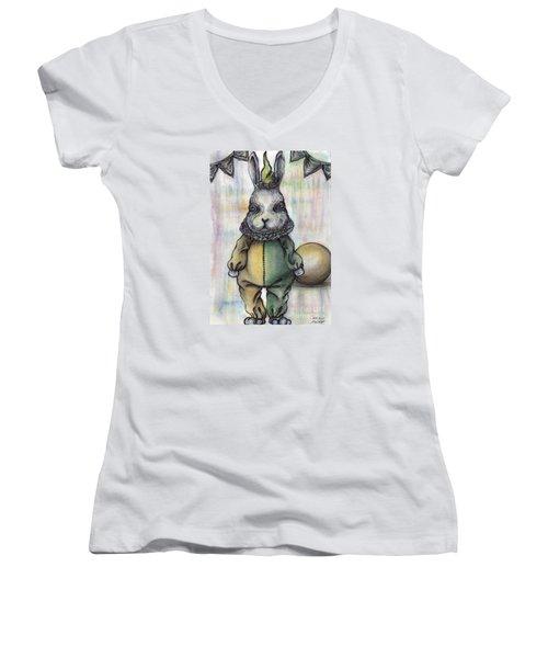 Rabbit Pierrot Women's V-Neck T-Shirt