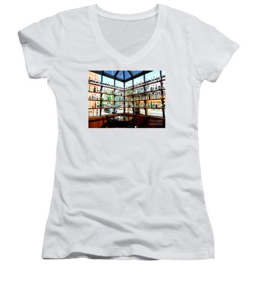 Rack Em Up Women's V-Neck T-Shirt (Junior Cut) by Marie Neder