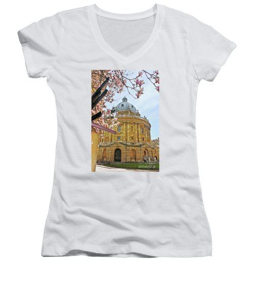Radcliffe Camera Bodleian Library Oxford  Women's V-Neck