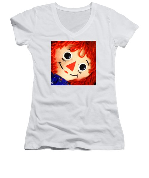 Raggedy Ann Women's V-Neck