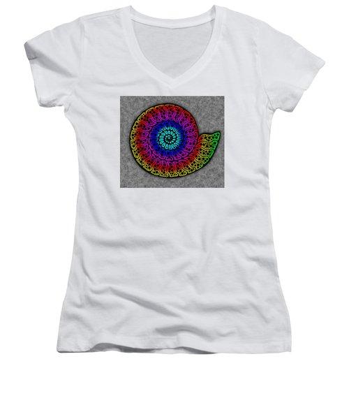 Rainbow Ammonite Women's V-Neck