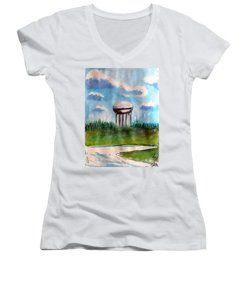Raines Road Watertower Women's V-Neck