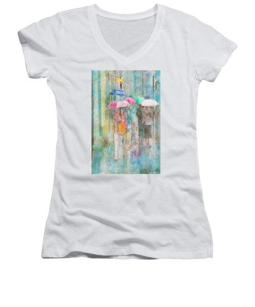 Rainy In Paris 2 Women's V-Neck