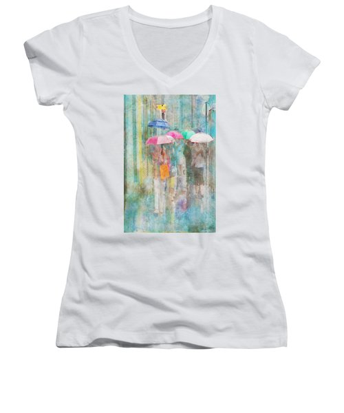 Rainy In Paris 2 Women's V-Neck T-Shirt