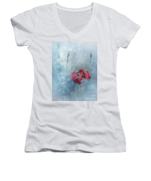 Rainy Summer Women's V-Neck T-Shirt